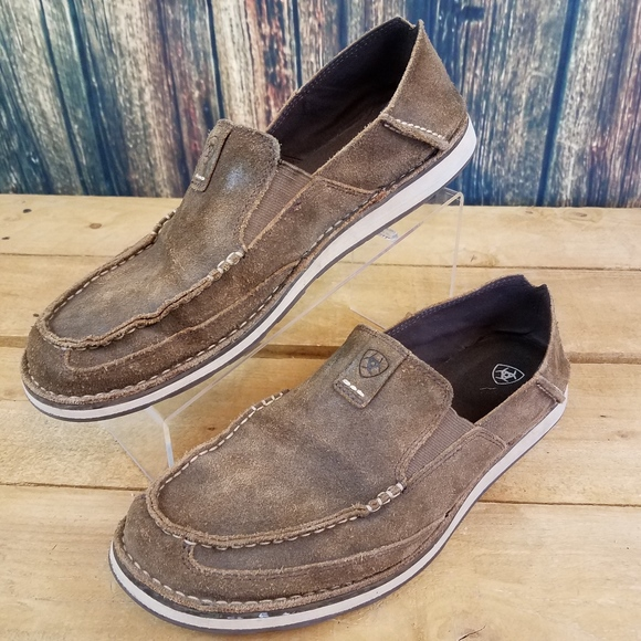 Ariat Mens Leather Slip On Western